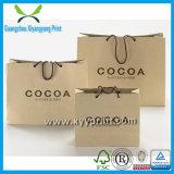 La mode neuve réutilisent des achats bon marché de sac de papier de Brown emballage