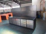 Banco de trabajo de acero resistente del cajón con las cabinas de herramienta económicas del garage del panel
