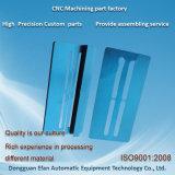 CNCによって機械で造られる部分を製粉する青いAndodizedの砂の送風アルミニウム精密