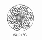 PVC 철사 밧줄 6*19+FC 의 철강선 밧줄