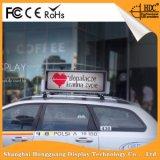 Sinal da mensagem do diodo emissor de luz do táxi