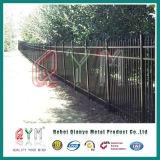 직류 전기를 통한 강철 말뚝 울타리 또는 단철 말뚝 울타리