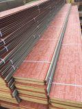Высеканная панель сандвича PU поверхности металла изолированная