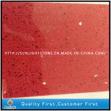 Pedra de quartzo Vermelho artificial com Espelho/Vidro/brilha