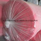 130g hecho en cubierta del suelo del PVC del fieltro del rojo de China