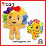 OEMの習慣はオリンピック大会のイベントのトーチが付いているプラシ天によって詰められるマスコットのおもちゃを遊ばす