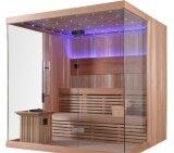 Zaal van de Sauna van de Verwarmer Harvia van de Prijs van de fabriek de Houten Materiële (m-6041)