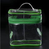 PVC transparent coloré portables bon marché Sac cosmétique