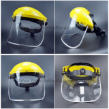 튀기십시오 위로 정면 PVC 챙 바퀴 래치드 현탁액 얼굴 방패 (FS4014)를