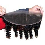 Frontal brasiliano del merletto della chiusura dei capelli umani con i capelli del bambino