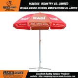 Parapluie de plage de publicité imperméable à l'eau en acier