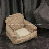 줄무늬 개 침대 소파 연약한 온난한 애완 동물 집 침대