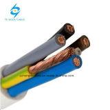 O material condutor de cobre alumínio com isolamento de PVC Fio eléctrico