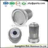 Dissipatore di calore di alluminio di profilo del ventilatore irregolare dell'alloggiamento per il dissipatore di calore chiaro della costruzione LED