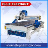 زرقاء فيل [كنك] 1337 عمل خشبيّة آليّة بناء شريط جلد مسحاج تخديد [كتّينغ مشن] لأنّ عمليّة بيع
