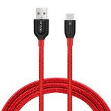 2.1A 유형 C를 위한 나일론 땋는 빠른 USB 케이블 그리고 데이터 Sync 케이블