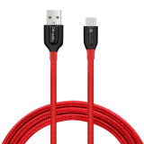 2.1A Tipo-c de alta velocidad trenzado de nylon cable y cable de la sinc. de los datos para Samsung HTC