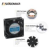 Ventilateur de refroidissement de la bonne qualité 80X80mm 110V 220V 380V 2900rpm avec Ternimal pour la machine de soudure
