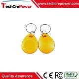 Tag RFID imperméable à l'eau passif personnalisé de Keyfob de l'ABS Tk4100+F08