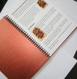 Kundenspezifisches Deckel-Drucken schreibt preiswertes gewundenes Papiernotizbuch