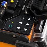 Pérdida inferior portable corta del empalme de la máquina del tiempo de la encoladora de la fusión de la tecnología de la fibra que empalma que empalma