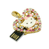 Dessin animé Kitty USB Pendrive de mémoire de flash USB de bijou