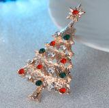 Metal de alta calidad con diamante Navidad insignia de solapa, los pins de metal para el recuerdo de regalo (YB-LP-440)