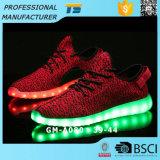 Кокосовые лампа обувь световой индикатор обувь соткать Flash обувь USB моды мужчин и светодиодный индикатор Ladys обувь