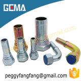 탄소 강철 유압 이음쇠, 유압 접합기, 호스 끝 이음쇠 황색 아연에 의하여 도금되는 관 이음쇠