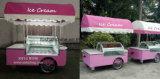 12 El sabor de helado de acero inoxidable carro/Precio de la Push Cart