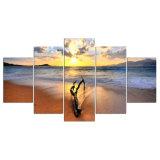 La lona imprime pinturas de la foto de los cuadros del mar del paisaje marino de las ilustraciones en el arte de la pared de la lona para las decoraciones del hogar del dormitorio de la sala de estar