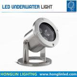 Éclairages LED sous-marins de la lumière 12V 3W de syndicat de prix ferme de fontaine avec la couleur de RVB changeant la lumière sous-marine de DEL
