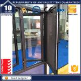 Französisches Aluminiumflügelfenster Windows mit örtlich festgelegtem Glas (CW-50)