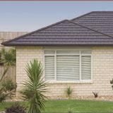 Puce de pierres colorées en acier recouvert de bardeaux de toit recouvert de pierre// Nosen Tile