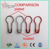 Haute qualité 22mm peint en métal coloré Coilless Pear la goupille de sécurité pour l'étiquette du vêtement