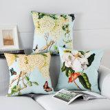 미국 시골 목가적인 꽃 나비 베갯잇 견면 벨벳 베개 방석 덮개
