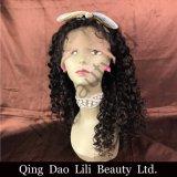 Lilibeauty Glueless 흑인 여성을%s 가득 차있는 레이스 가발 Malaysian 꼬부라진 사람의 모발은 전 자연적인 가는선을 뽑았다