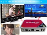 Cadre E8 de l'androïde 6.0 TV des Etats-Unis IPTV Canada IPTV plus l'Octa-Faisceau d'Amlogic S912 avec les Manche