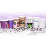 Горячая чашка кофе бумаги при послепродажном обслуживании с крышками