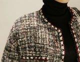 Chaqueta larga de la funda de las señoras de la alta calidad del OEM sin la capa del cortocircuito del collar