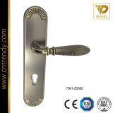 Входная дверь цинкового сплава рукоятку блокировки оборудования с пластиной (7063-Z6367s)