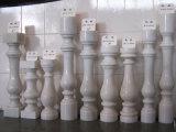 Alberini Polished/corrimano/Bottomrail/balaustra/colonna/colonna/rete fissa/asta della ringhiera della pietra di marmo bianca cinese di Chiva