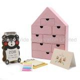 Caja de cartón Diecut personalizados de verificación, el arte caja de embalaje de papel con la casa tipo