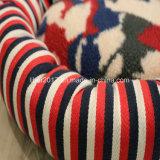 고아한 빨간 줄무늬 디자인 고양이 침대 작은 개 침대 애완 동물 부속품