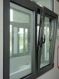 Guichet en aluminium d'interruption thermique en verre de Lowe de constructeur de Foshan