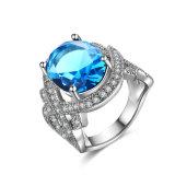 De witgoud Geplateerde Kunstmatige Juwelen van de Ring van de Partij van de Diamant