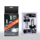 Nova amostra grátis mais barato 8000lm ventiladores 12V a lâmpada do farol H1 H4 H7 9005 9006 Grosso LED Auto impermeável super brilhante luz do carro