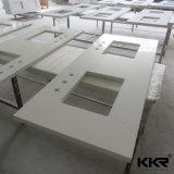 Partie supérieure du comptoir de cuisine de pierre de quartz de résistance de brouillon de matériau de construction