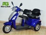 Tres triciclo eléctrico de los asientos 500W de la rueda dos para los minusválidos