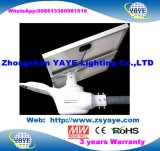 Yaye 18 최신 인기 상품 먼 관제사를 가진 방수 IP66 운동 측정기 50W LED 태양 가로등 램프 5 년 보장